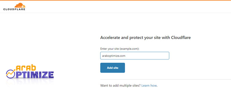 cloudflare add site